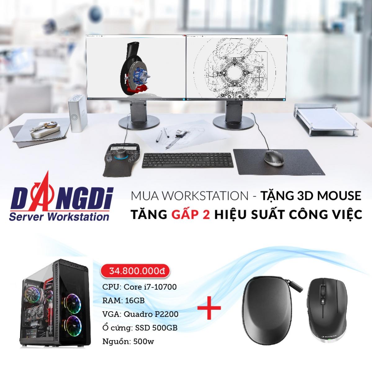 Mua workstation - Tặng 3D mouse