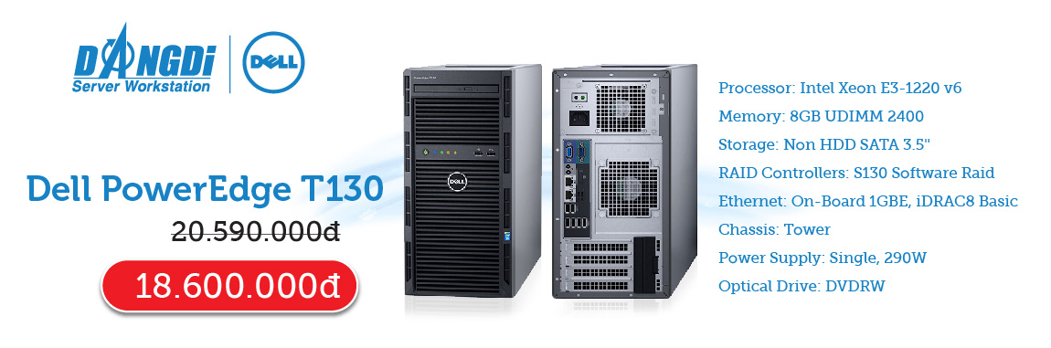 Banner DELL PowerEdge T130