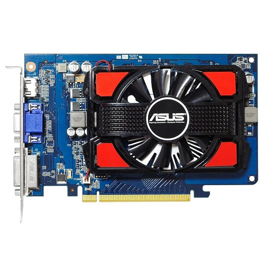 ASUS Geforce GT630 (96 core, 2GB DDR3, 128bit, 28.8 GB/s, 75 W)