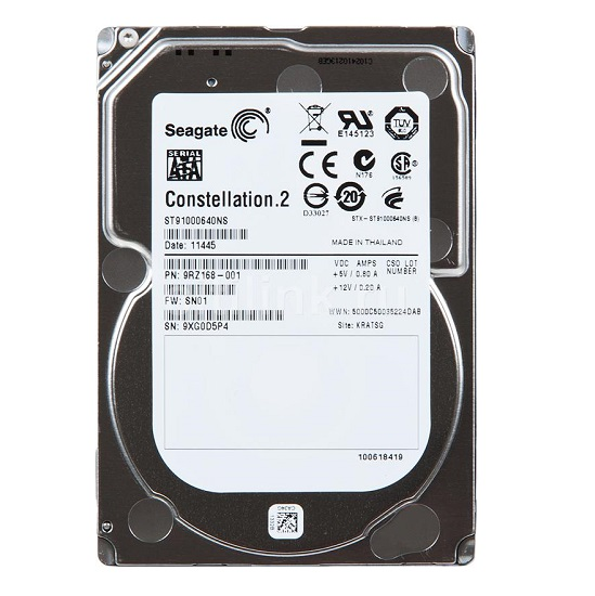 HDD Seagate Constellation 2 1 TB 7200rpm 64 MB SATA 6 Gb/s 2.5 inch (ST91000640NS)