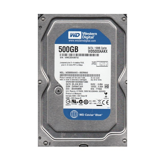 HDD WD Caviar Blue 250 GB 7200rpm 16 MB SATA 6 Gb/s 3.5 inch (WD2500AAKX)
