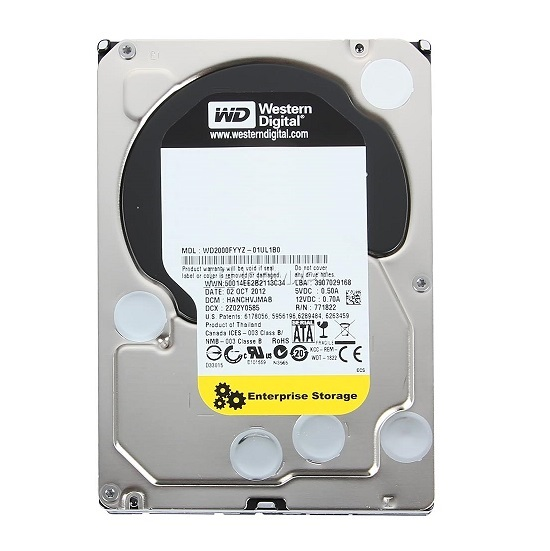 HDD WD RE  2 TB  7200rpm 64 MB SATA 6 Gb/s 3.5 inch (WD2000FYYZ)