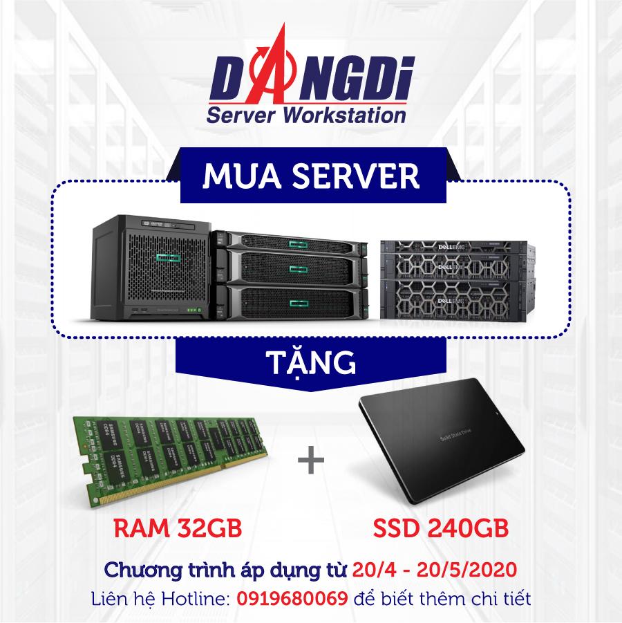 [Khuyến mãi] Mua server tặng RAM và SSD